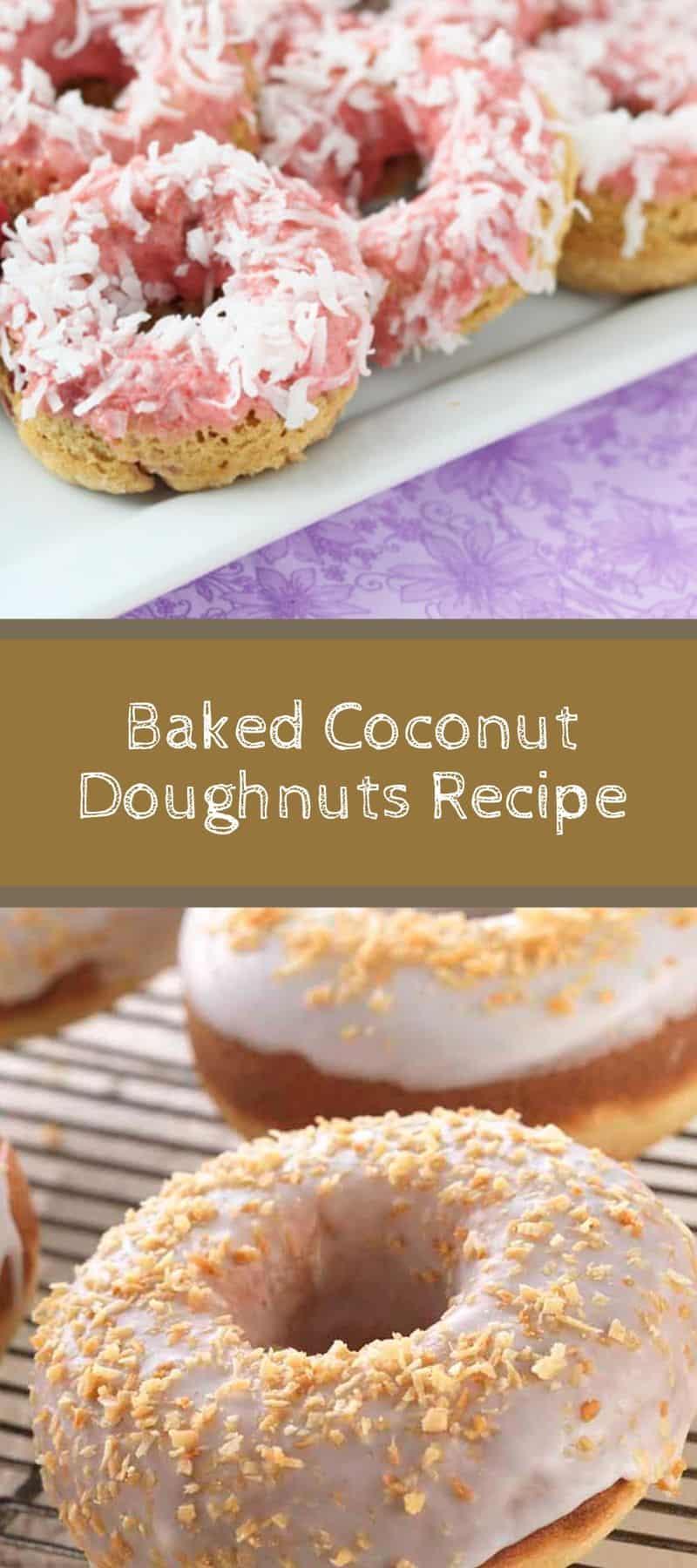 Baked Coconut Doughnuts Recipe