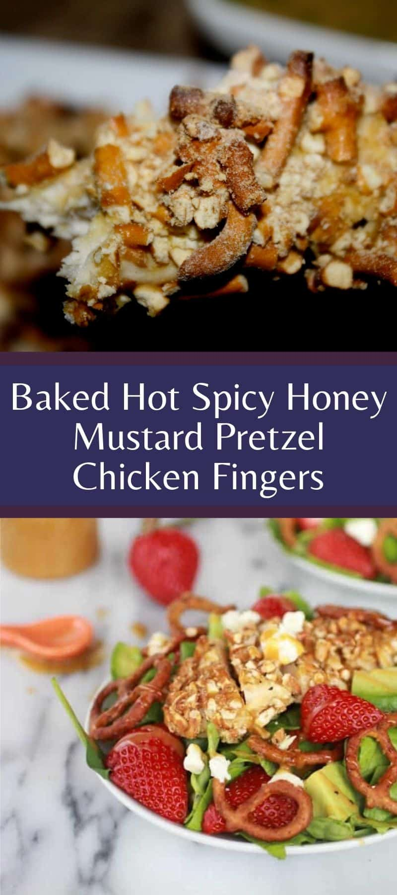 Baked Hot Spicy Honey Mustard Pretzel Chicken Fingers 3