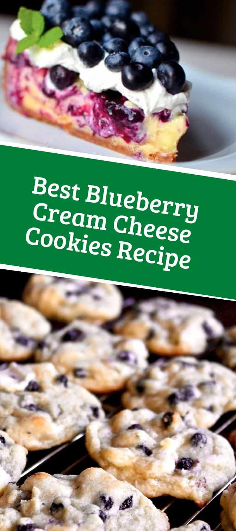 Best Blueberry Cream Cheese Cookies Recipe
