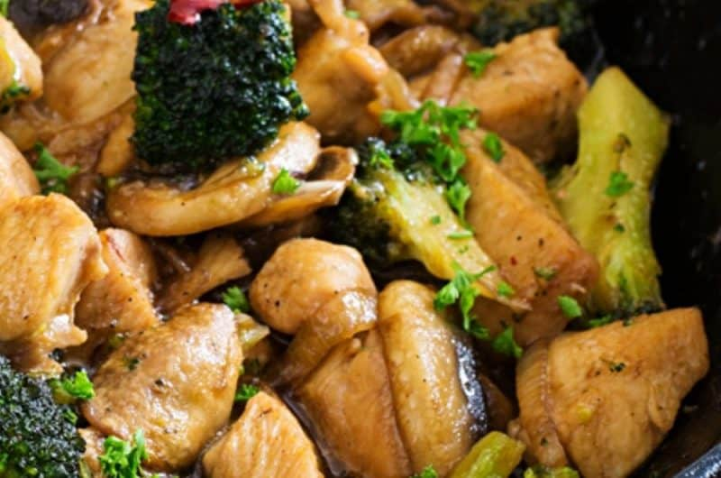 Broccoli Mushroom Stir-Fry