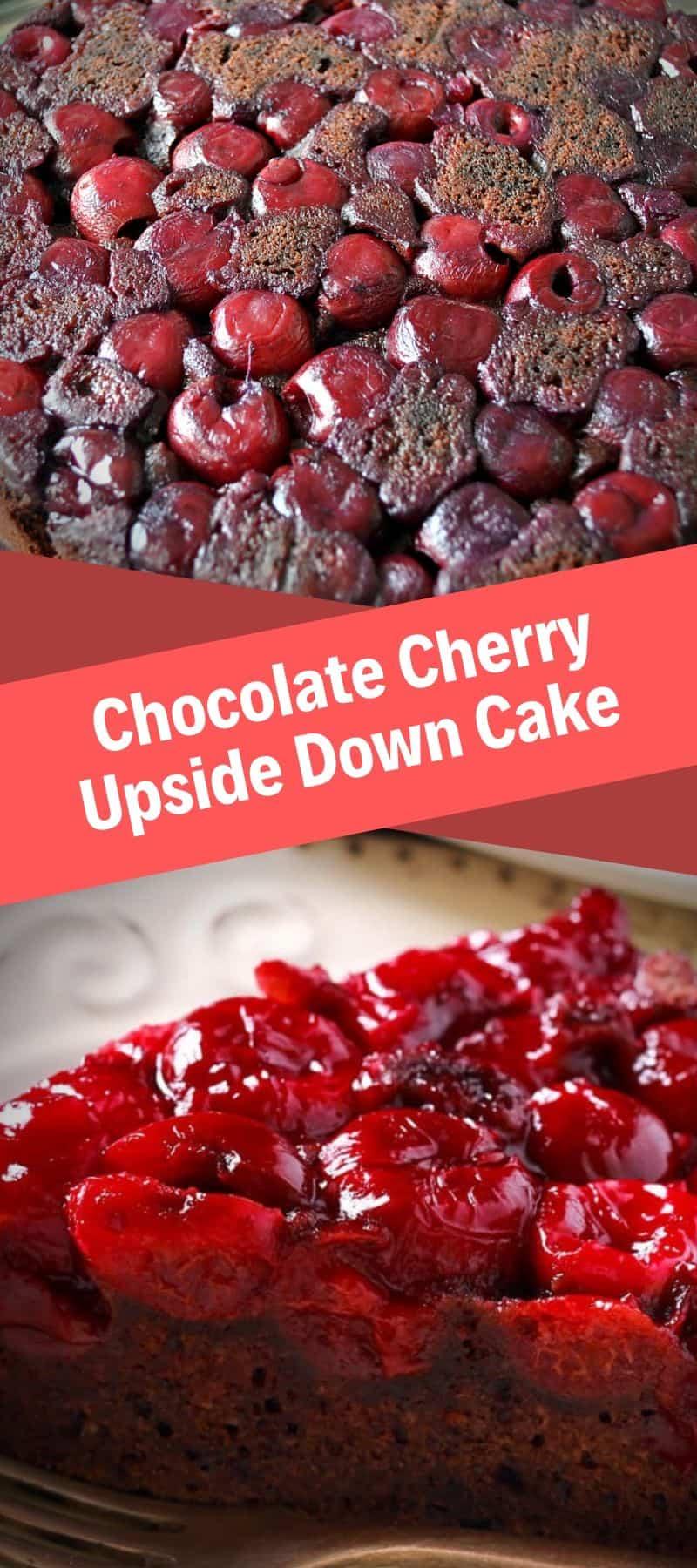 Chocolate Cherry Upside Down Cake Recipe 3