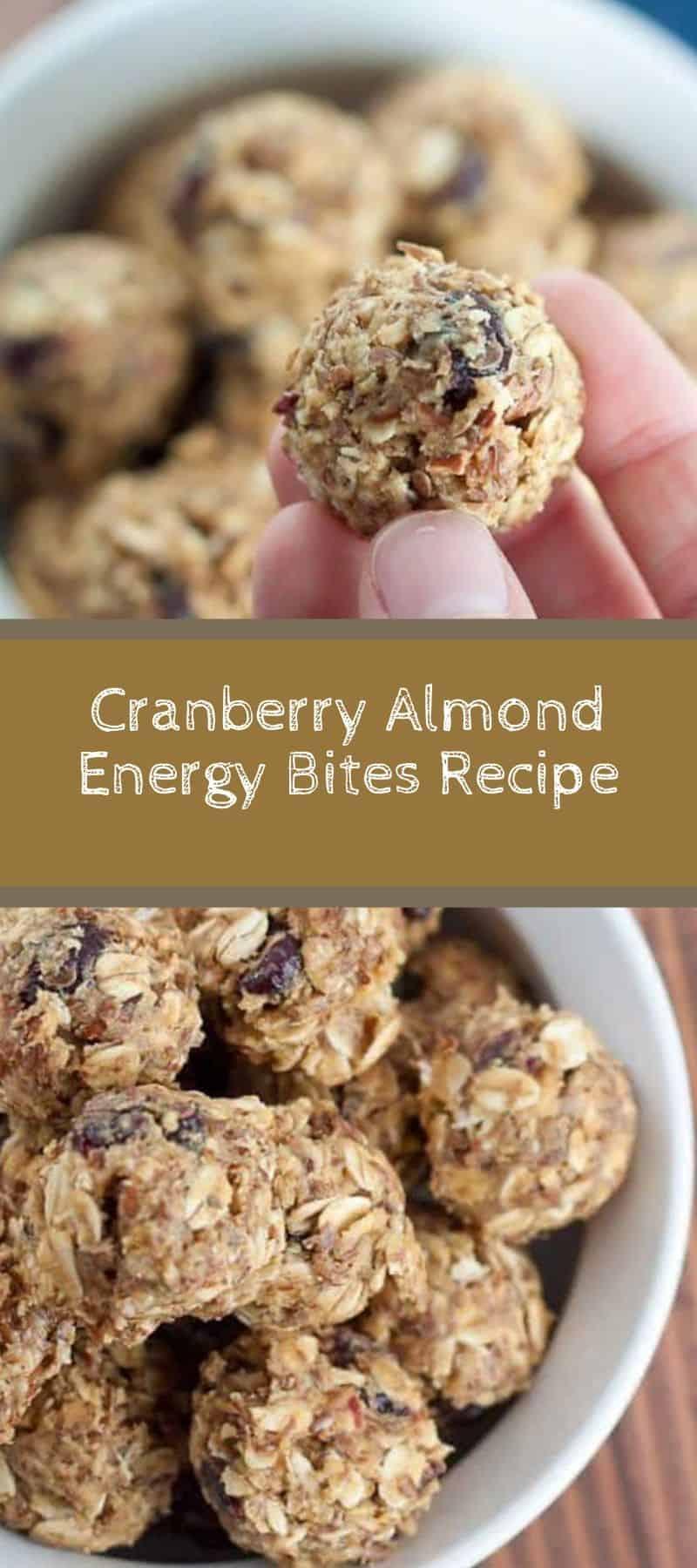 Cranberry Almond Energy Bites Recipe 3