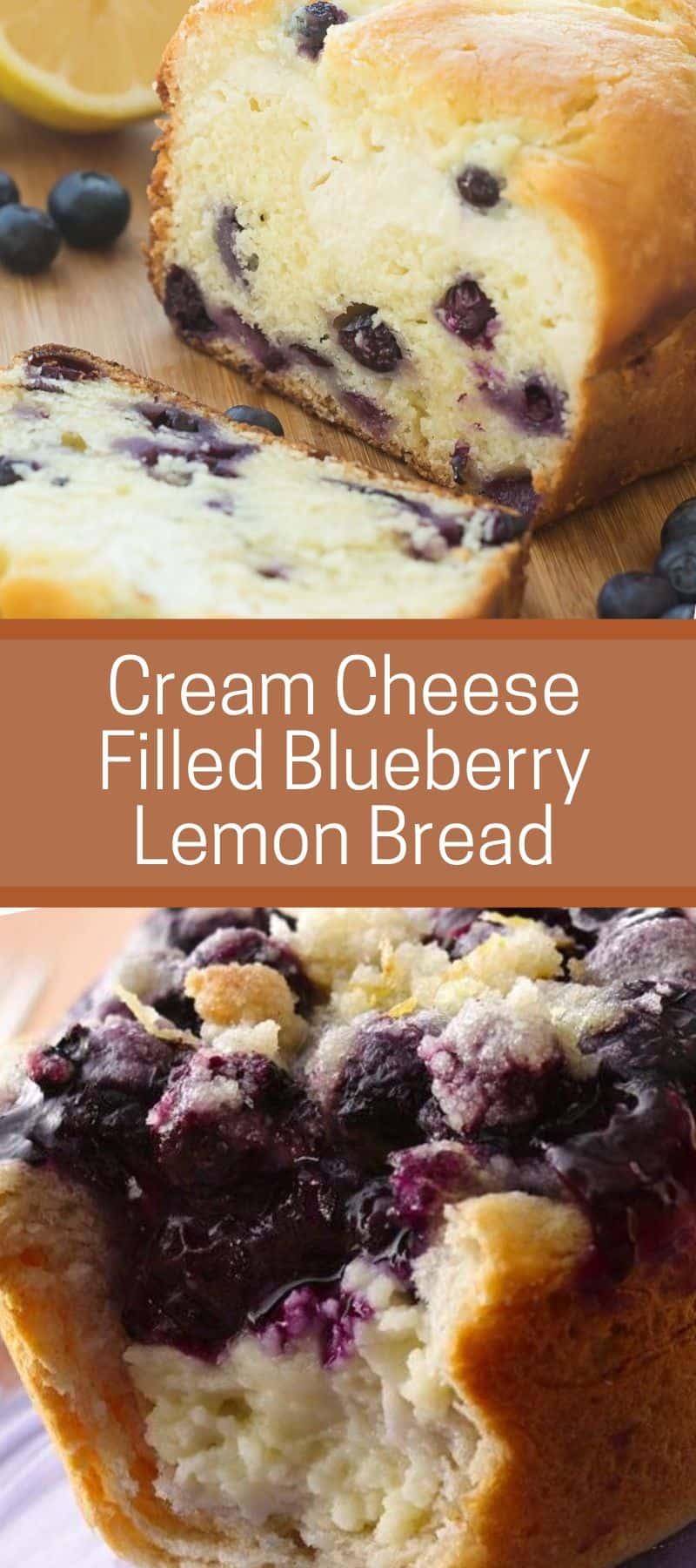 Cream Cheese Filled Blueberry Lemon Bread 3