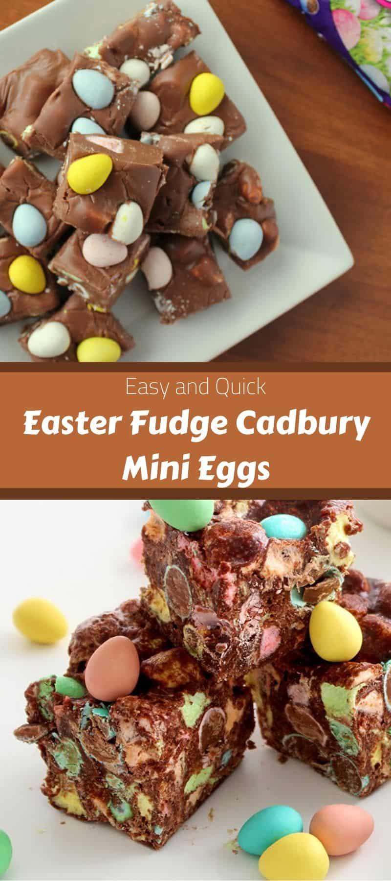 Easy Easter Fudge Cadbury Mini Eggs 3