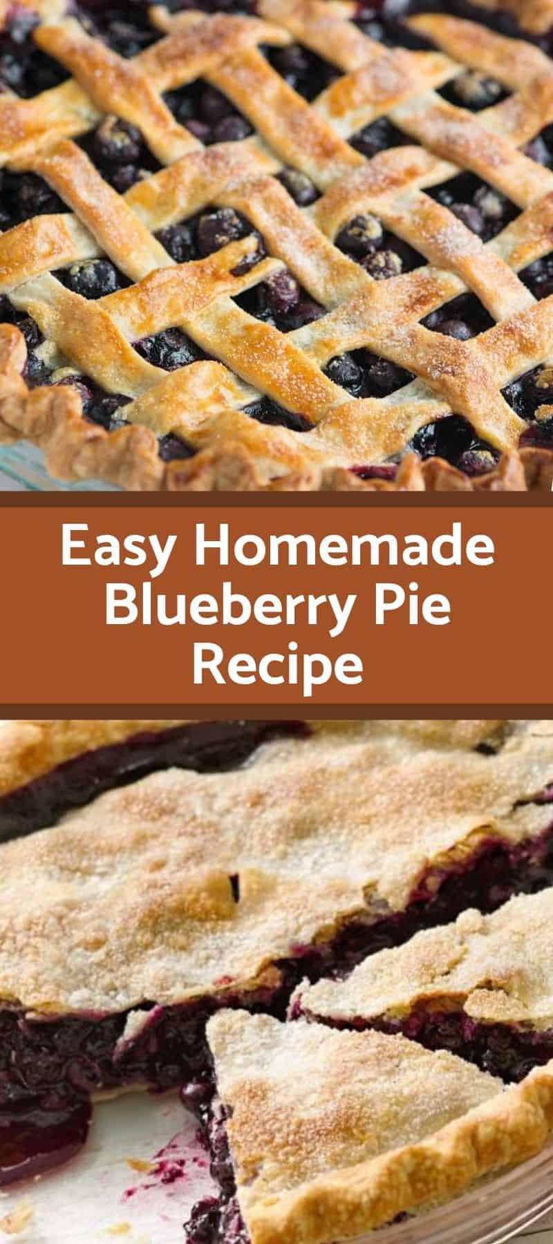 Easy Homemade Blueberry Pie Recipe 3