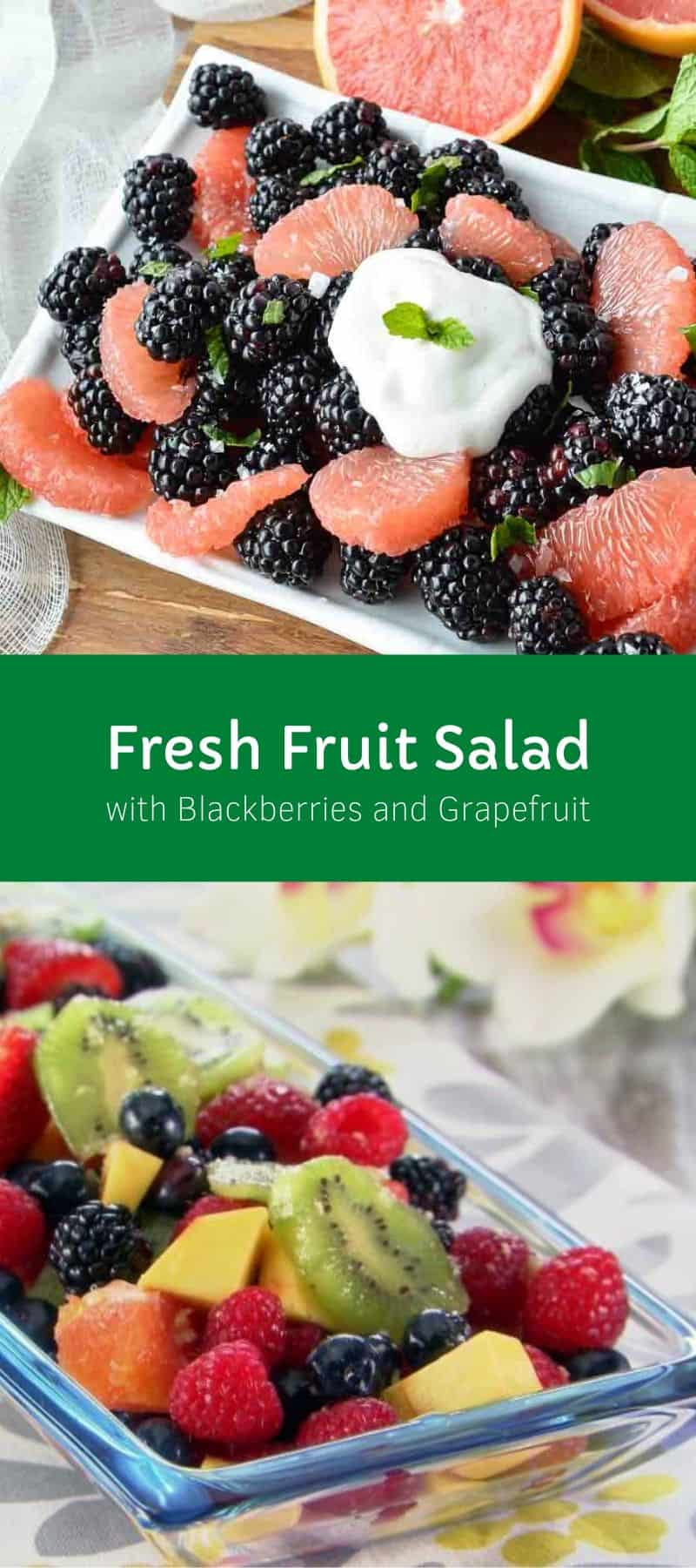 Fresh Fruit Salad with Blackberries and Grapefruit
