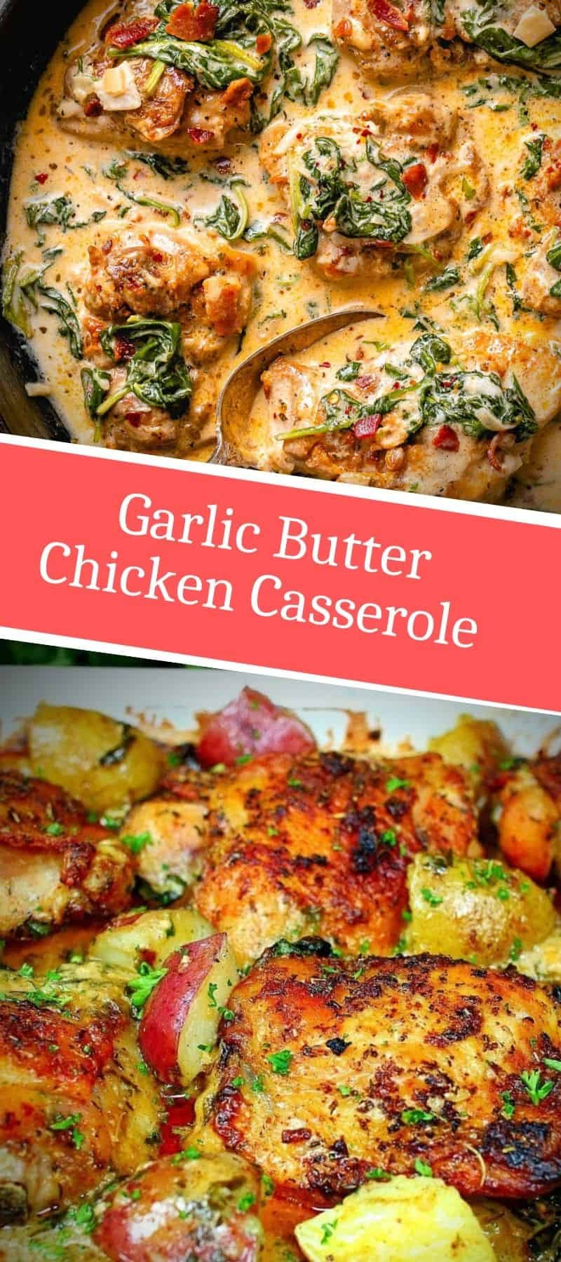 Garlic Butter Chicken Casserole Recipe 3