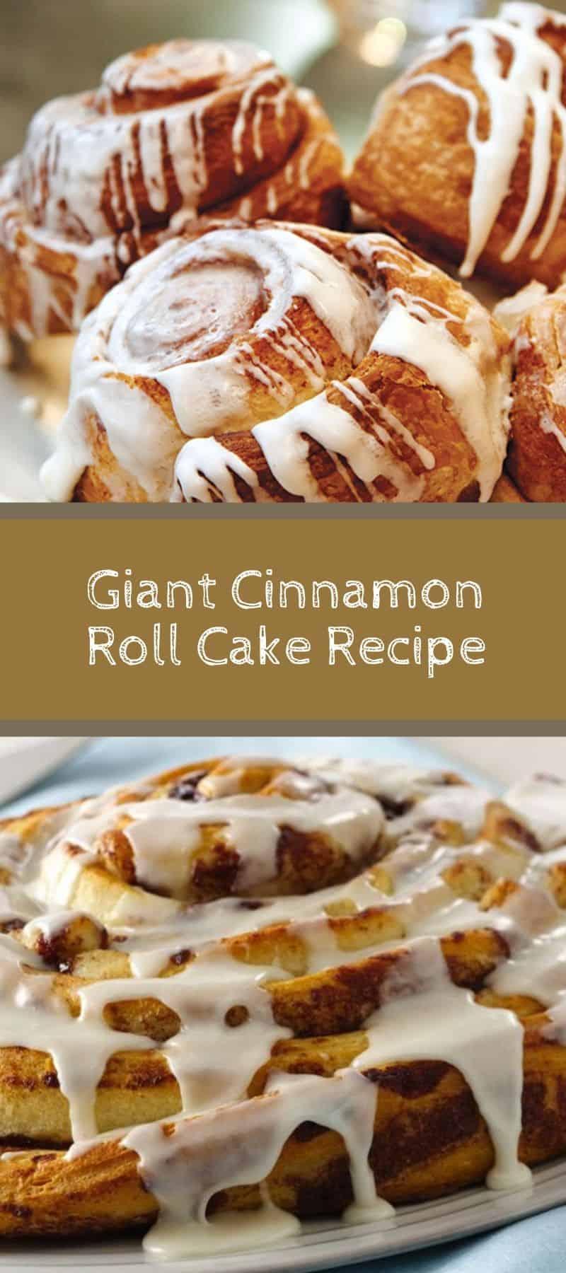 Giant Cinnamon Roll Cake Recipe 2