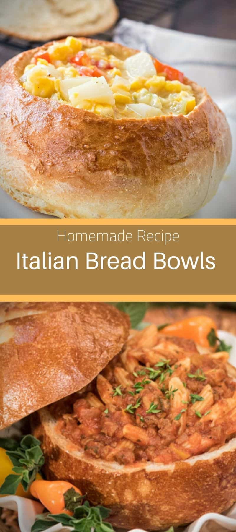 Homemade Italian Bread Bowls Recipe 3