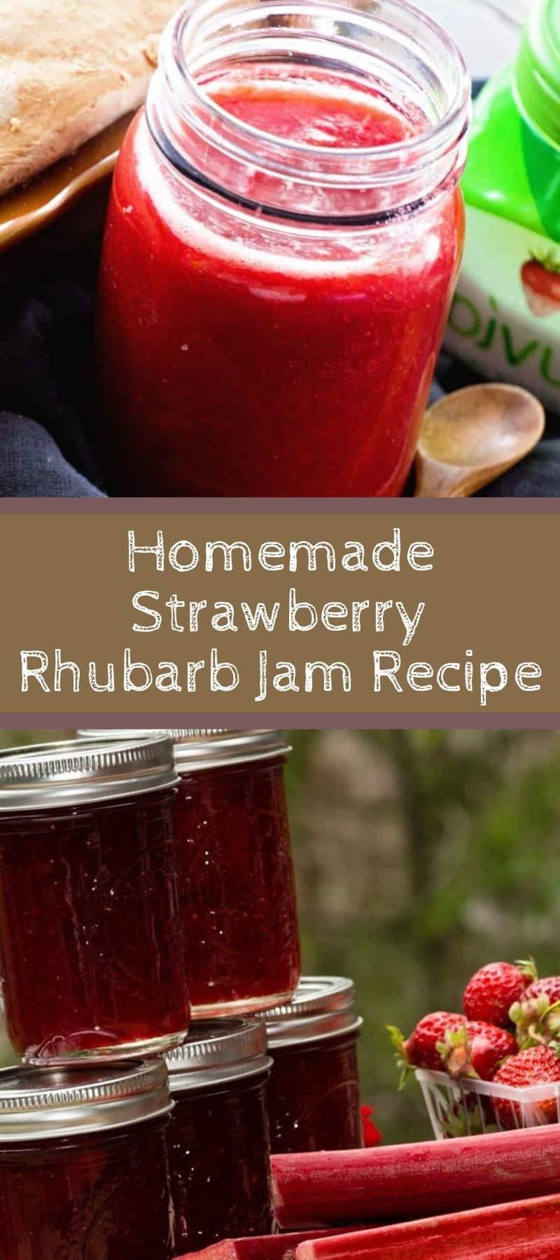Homemade Strawberry Rhubarb Jam Recipe 3