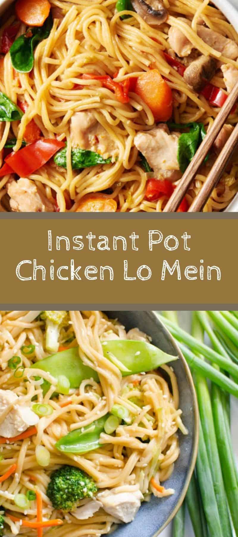 Instant Pot Chicken Lo Mein 3