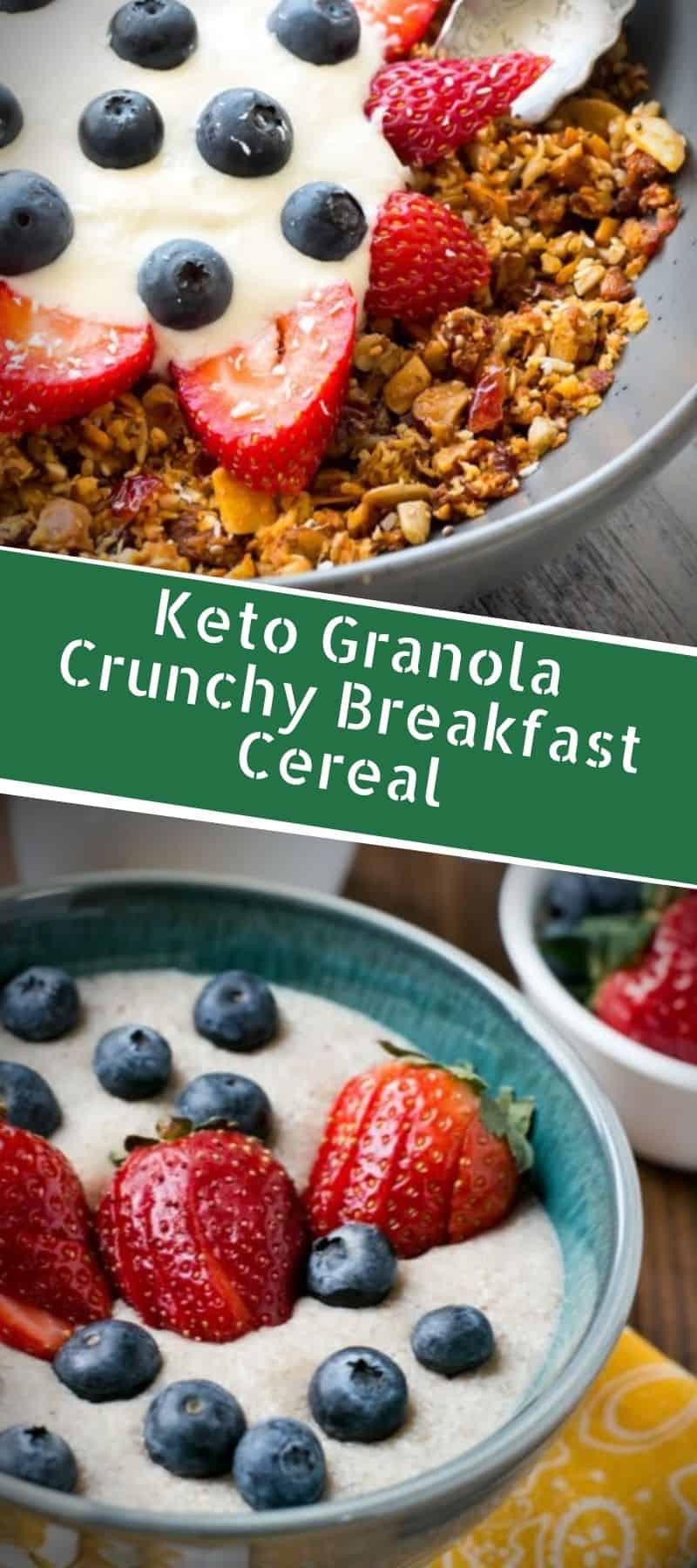 Keto Granola Crunchy Breakfast Cereal 3