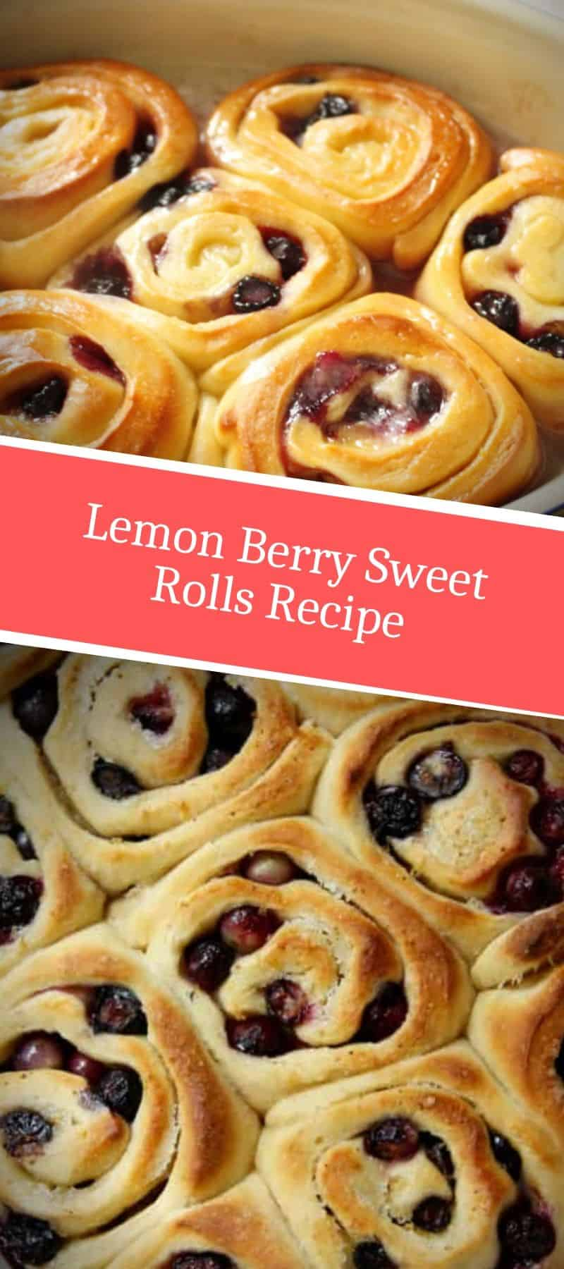 Lemon Berry Sweet Rolls Recipe 3