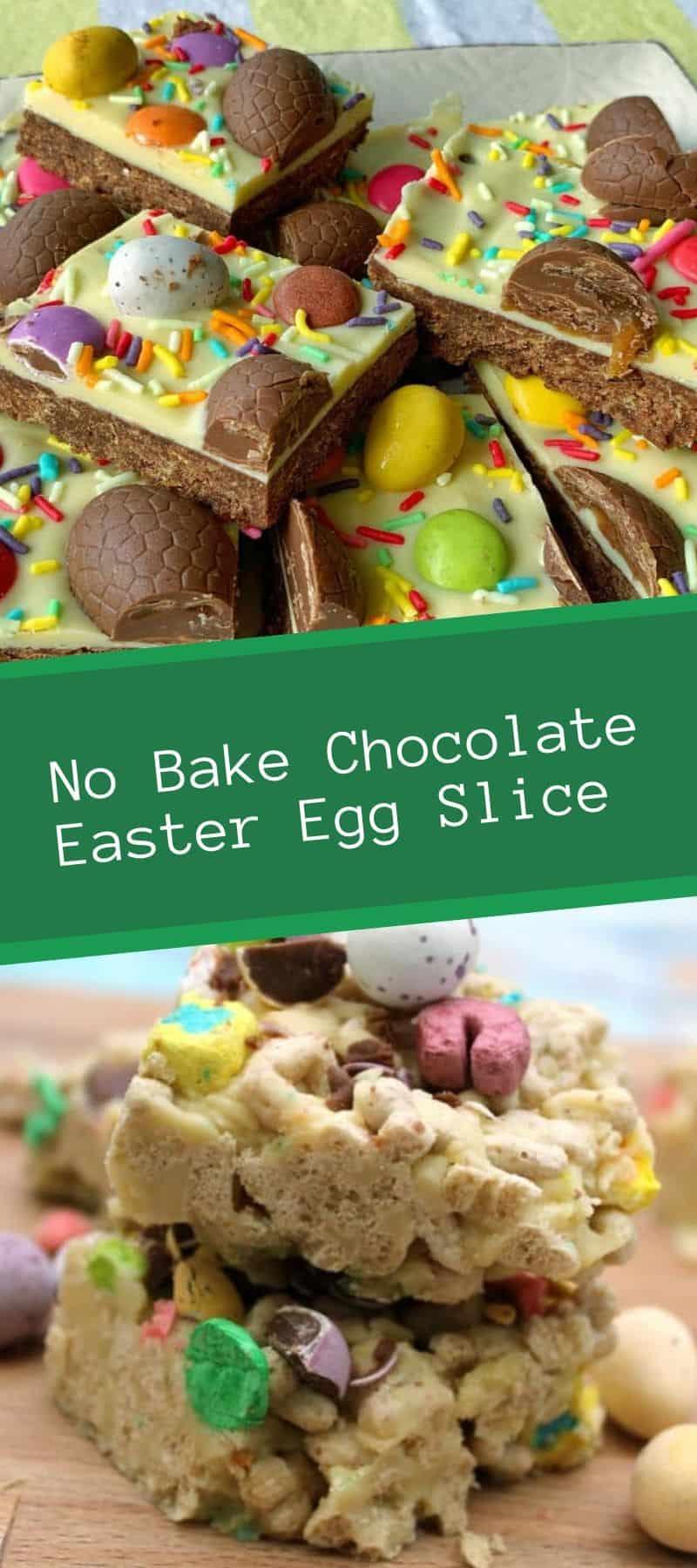 No Bake Chocolate Easter Egg Slice Recipe 3