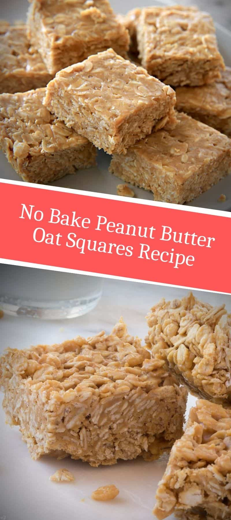 No Bake Peanut Butter Oat Squares Recipe 3