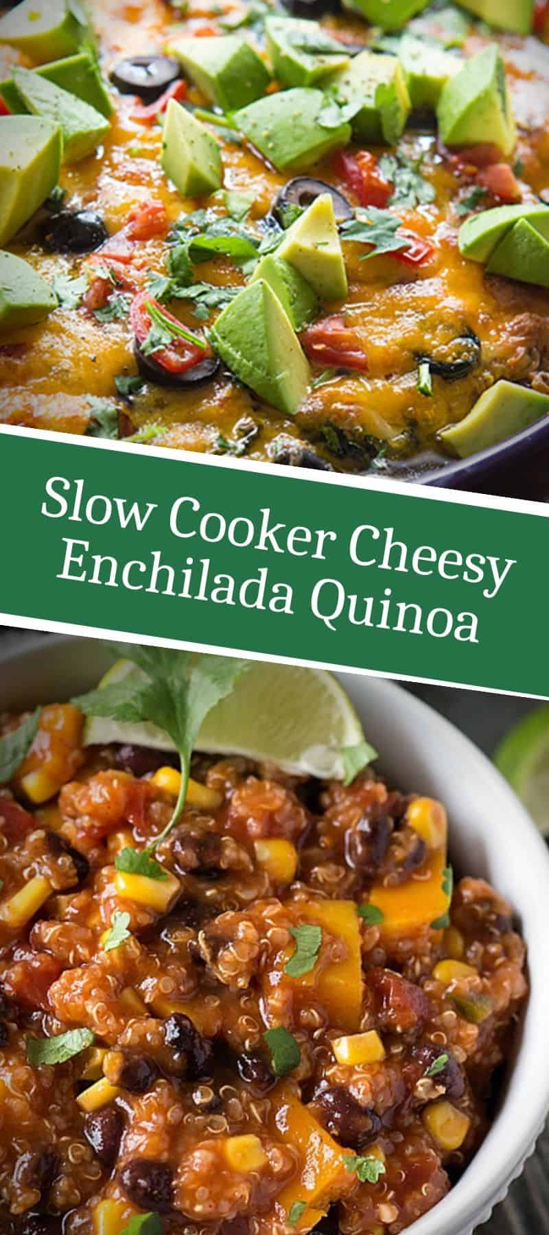Slow Cooker Cheesy Enchilada Quinoa 3
