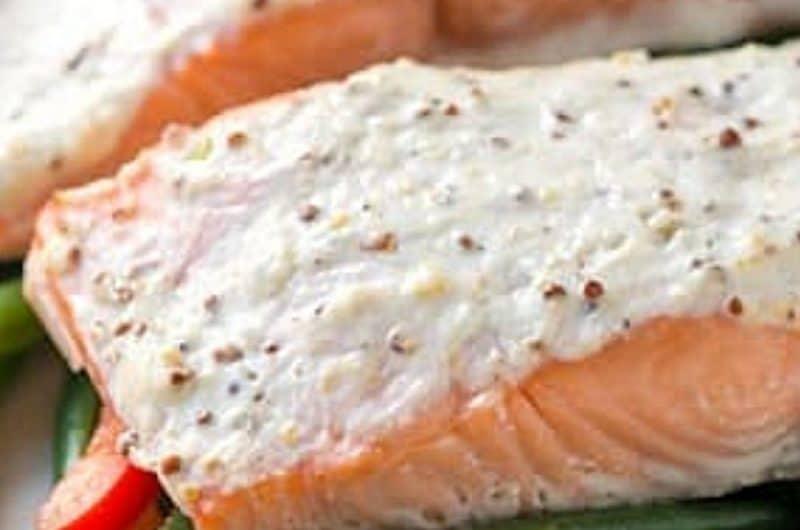 Sour Cream Baked Salmon