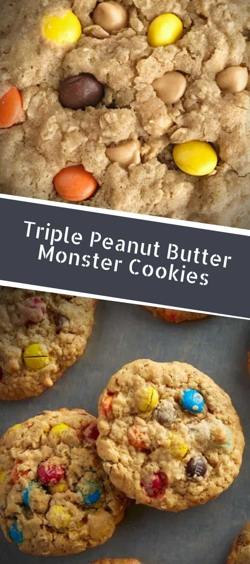 Triple Peanut Butter Monster Cookies Recipe 3